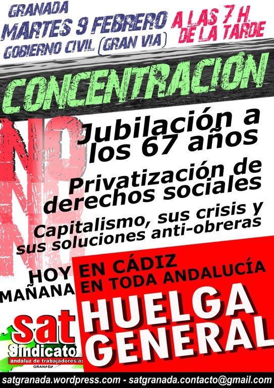 Solidaridad con la Sierra de Cádiz, Huelga General Andaluza