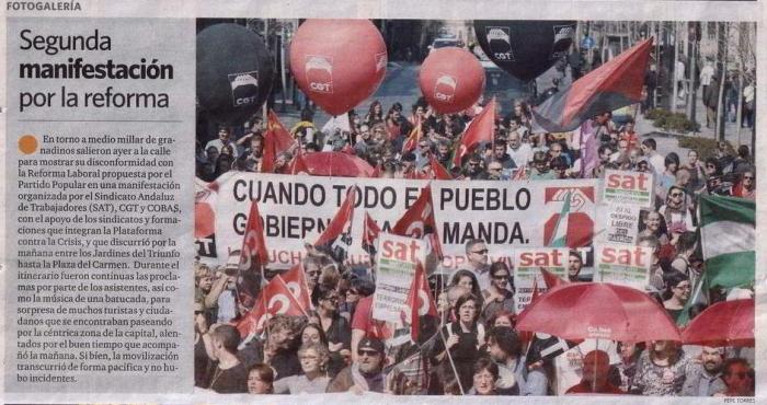 Última página del Granada Hoy