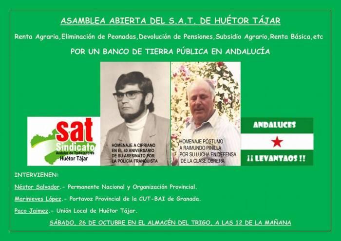 Acto-homenaje e información sobre las reclamaciones de las pensiones en Huétor-Tájar.