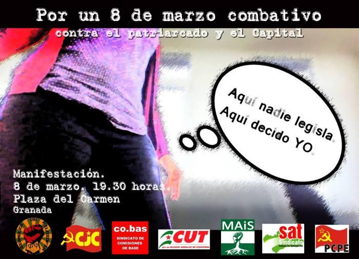 8 DE MARZO COMBATIVO: ¡CONTRA EL PATRIARCADO Y EL CAPITAL!