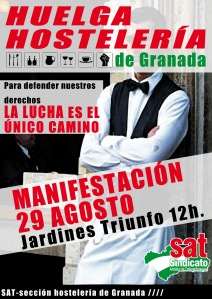 huelga hostelería 29 granada