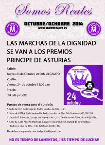 """Autobuses a Asturias: Movilización """"Somos Reales"""" Marchas de laDignidad"""
