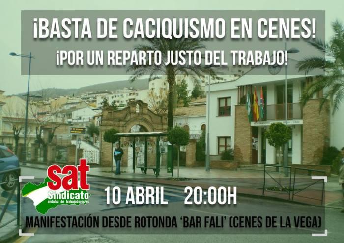 """¡Basta de caciquismo! En Cenes de la Vega (Granada), el Ayuntamiento elige entre dos trabajadores con una moneda a """"cara ocruz""""."""