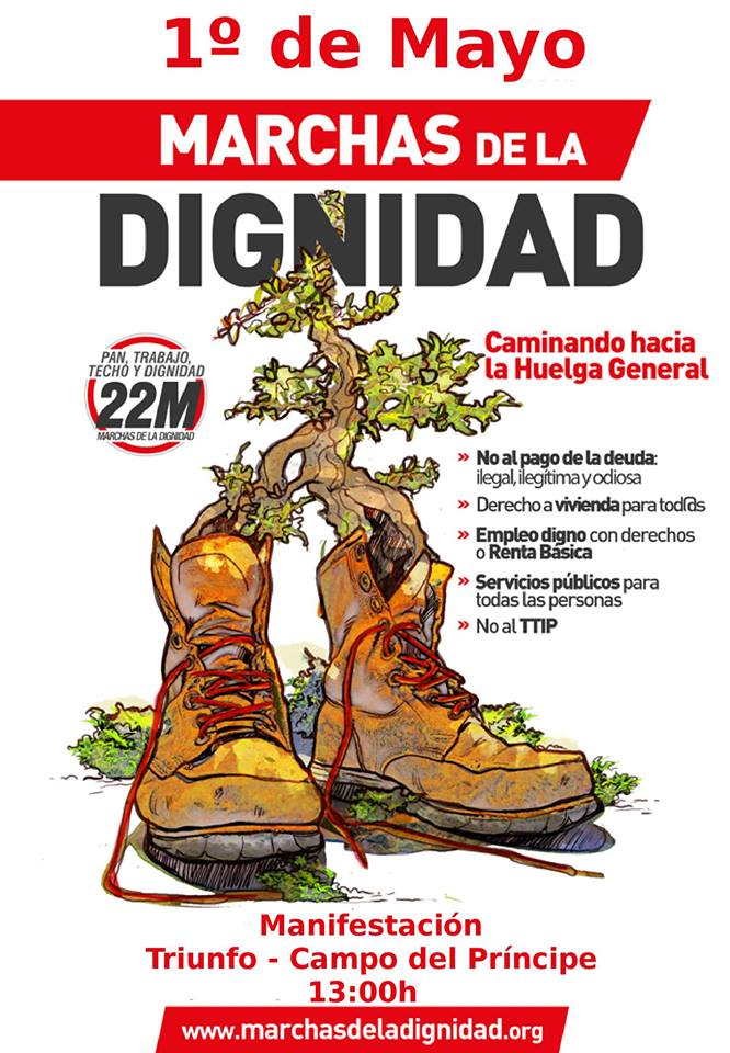 1º de Mayo en Granada: Manifestación Alternativa convocada por las Marchas de laDignidad