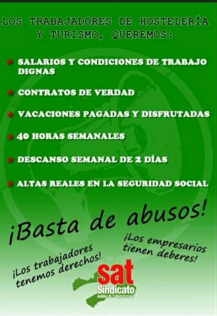 cartel hostelería verde