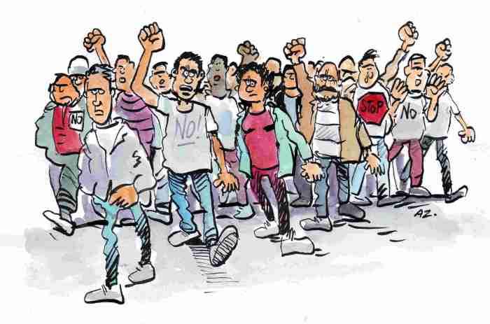 trabajadpores-protestando