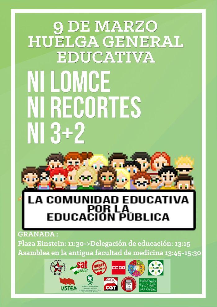 Huelga educativa 9 marzo 17