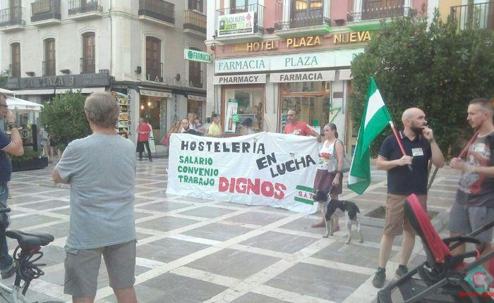 Se realizó la concentración-marcha por los derechos de los trabajadores/as dehostelería.