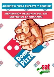 Cartel dominos. Granada