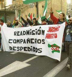 readmisión despedidos manifestación