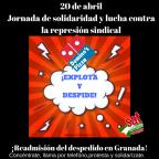20 de abrilJornada de solidaridad y lucha contra la represión sindical