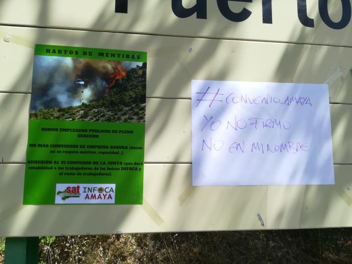 #YoNoFirmo     Los trabajadores de AMAyA – INFOCA se encierran contra el preacuerdo de I Convenio deAMAyA.
