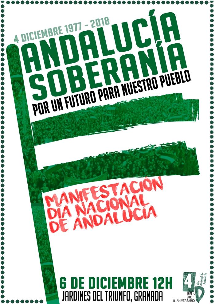 6 de diciembre:  manifestación en Granada por el Día Nacional deAndalucía.