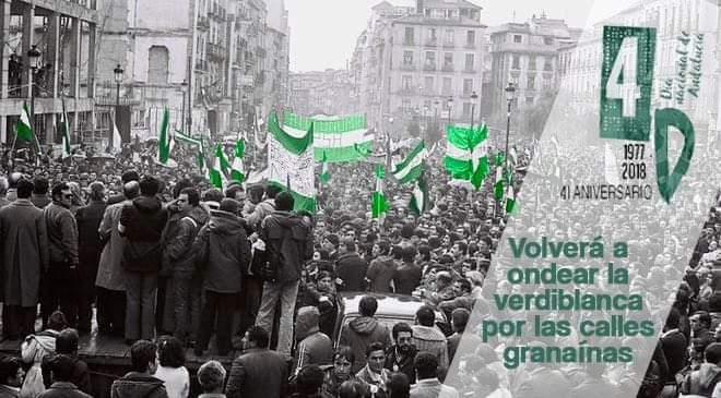 Manifestación en Granada 6 de diciembre. ANDALUCÍA, SOBERANÍA: por un futuro para nuestropueblo.