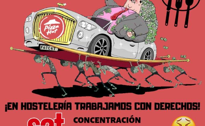 Concentración Pizza Hut, sábado 16 de febrero en la plaza de Einstein.(Granada).