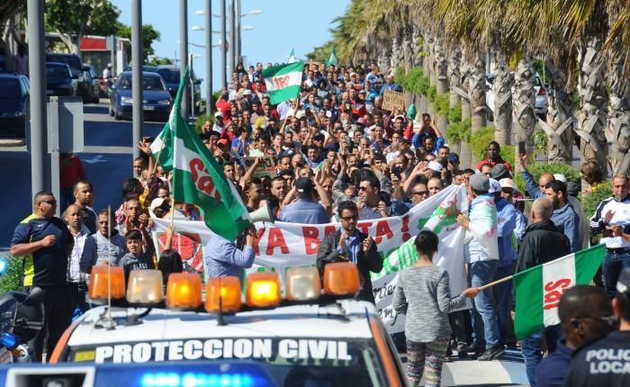 Autobús solidario: por un convenio justo en el campo y el manipuladoalmeriense.