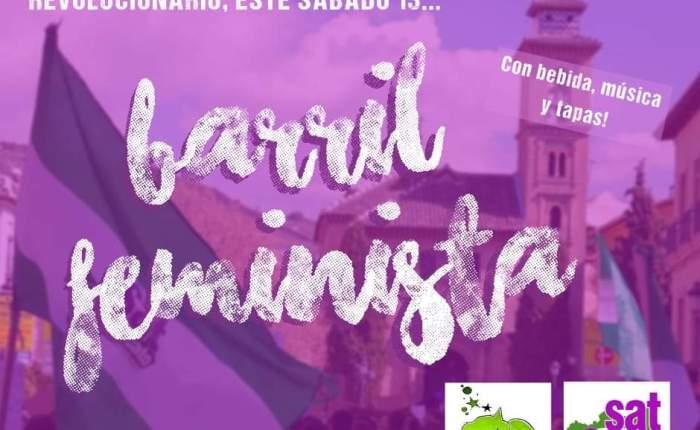 Barril Solidario y Feminista, sábado 13 de abril a las 14'00horas