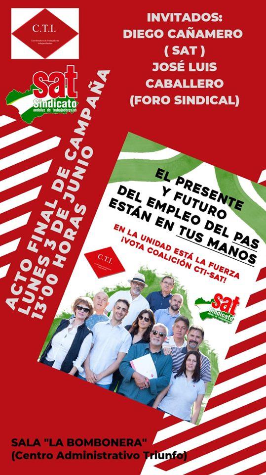 ACTO FINAL DE CAMPAÑÁ CARTEL.
