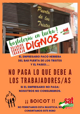 EL EMPRESARIO PACO HERRERA DEL BAR PUERTA DE LOS TRISTES Y EL PASEO....