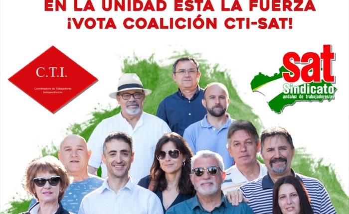 ELECCIONES SINDICALES EN LA UNIVERSIDAD. Acto de cierre de campaña de la Coalición CTI –SAT.