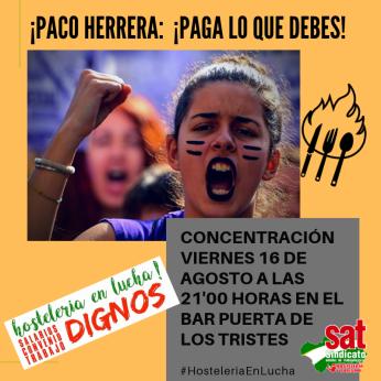 CONCENTRACIÓN VIERNES 16 DE AGOSTO A LAS 21'00 HORAS EN EL BAR PUERTA DE LOS TRISTES