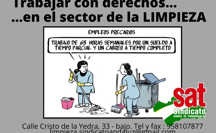 LA EMPRESA DE LIMPIEZA TEMPO DEBE TRES MENSUALIDADES A SUS TRABAJADORAS Y  NINGUNA ADMINISTRACIÓN TOMA MEDIDAS PARAEVITARLO.