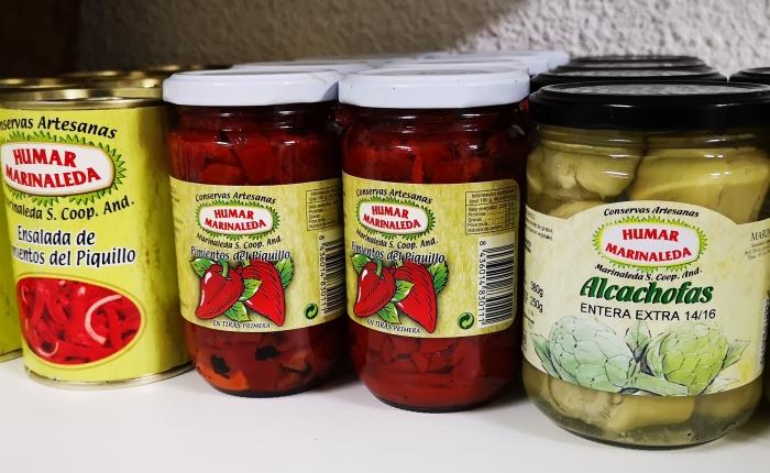 Conservas artesanas y legumbres de Marinaleda en la tienda delSAT.