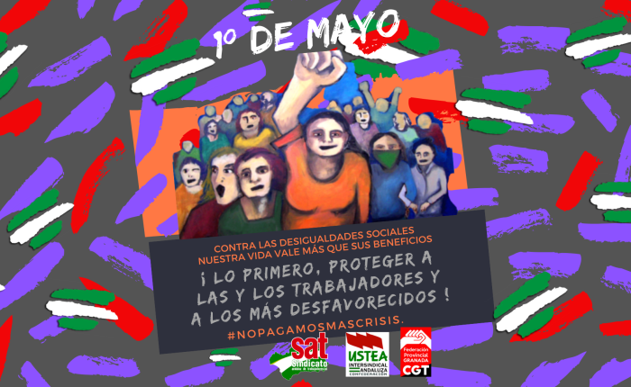 ACTOS EN GRANADA PARA EL 1º DE MAYO2020.