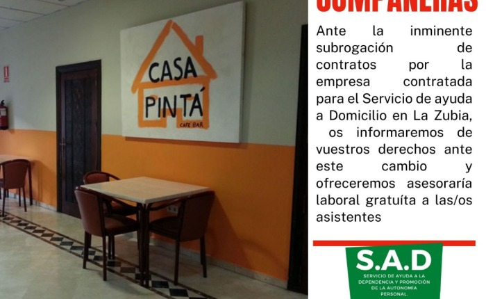 Asamblea Informativa SAT Ayuda a Domicilio laZubia