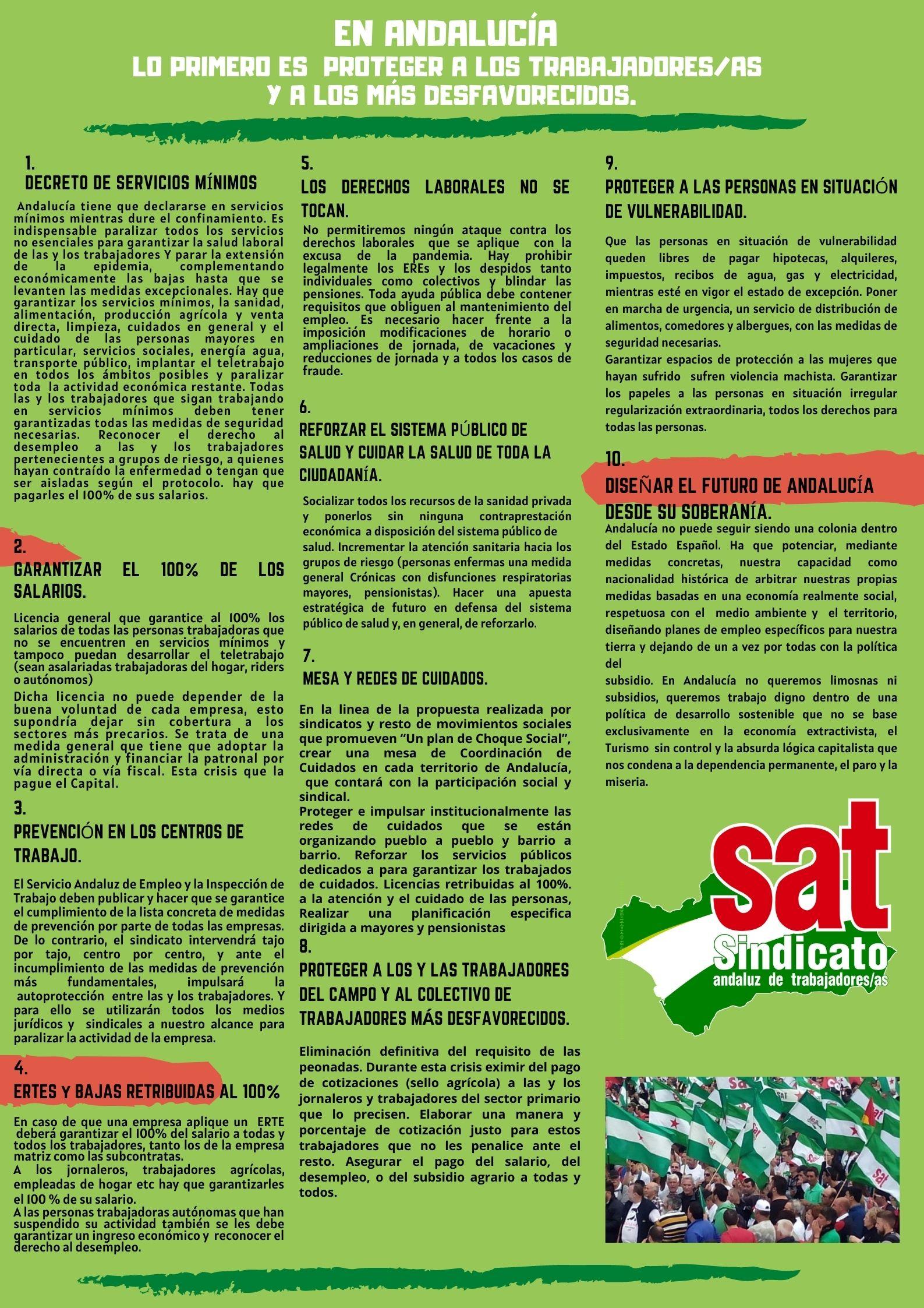 VAMOS PALANTE Manifiesto SAT