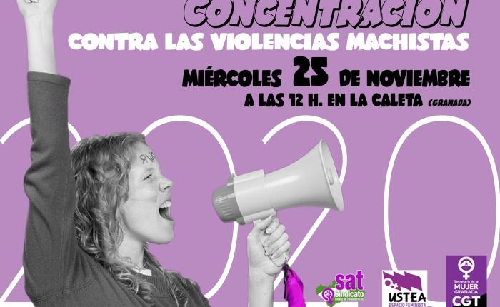 #25NContraLaViolenciaMachista: Concentración a las 12 en LaCaleta