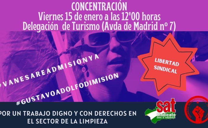 Viernes 15 de enero, concentración por la readmisión de VanesaSánchez.