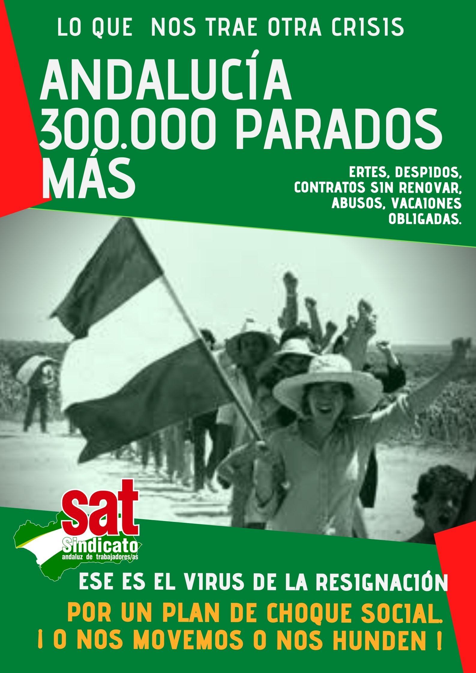andalucía 300.000 PARADOS MÁS