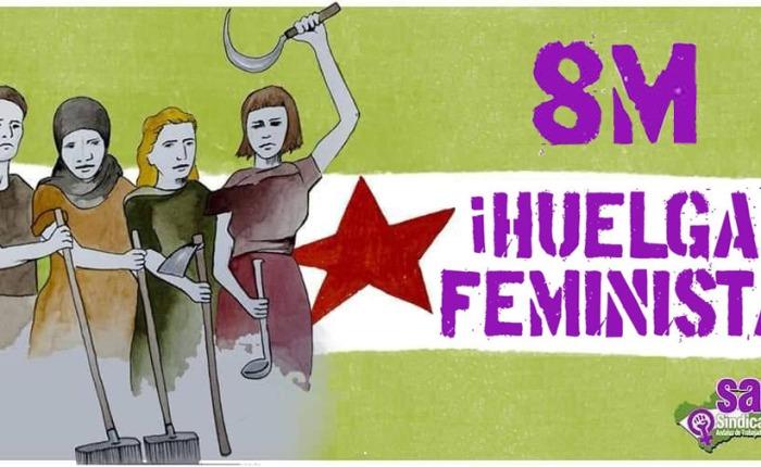 El SAT convoca Huelga Feminista el próximo 8 deMarzo.
