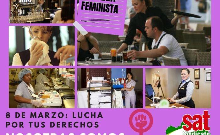 El SAT, Sector de Hostelería, ante el 8 de marzo. ¡Huelgafeminista!