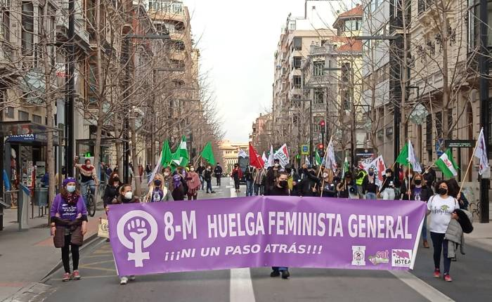 8 de marzo combativo. Las mujeres trabajadoras granadinas toman lascalles.