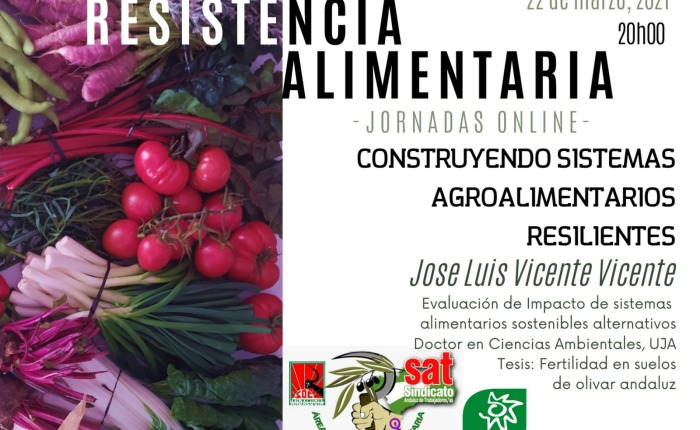 Conferencia: CONSTRUCCIÓN DE SISTEMAS AGROALIMENTARIOS RESILIENTES.