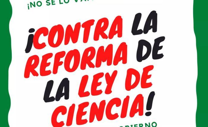 Concentración contra la Reforma de la Ley deCiencia.