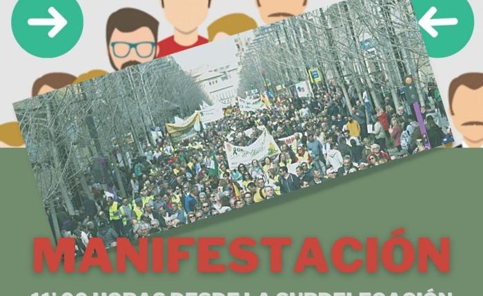 Manifestación viernes 28 a las 11′ 00 h. de los trabajadores públicos enhuelga