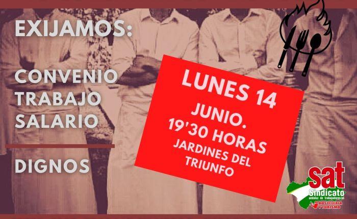 MANIFESTACIÓN EN DEFENSA DE LOS DERECHOS DE LOS  TRABAJADORES Y TRABAJADORAS DE LAHOSTELERÍA.