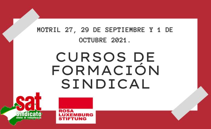 Curso de Formación Sindical 2021.Motril