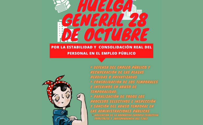 HUELGA GENERAL 28 DE OCTUBRE. En la administración públicaandaluza.