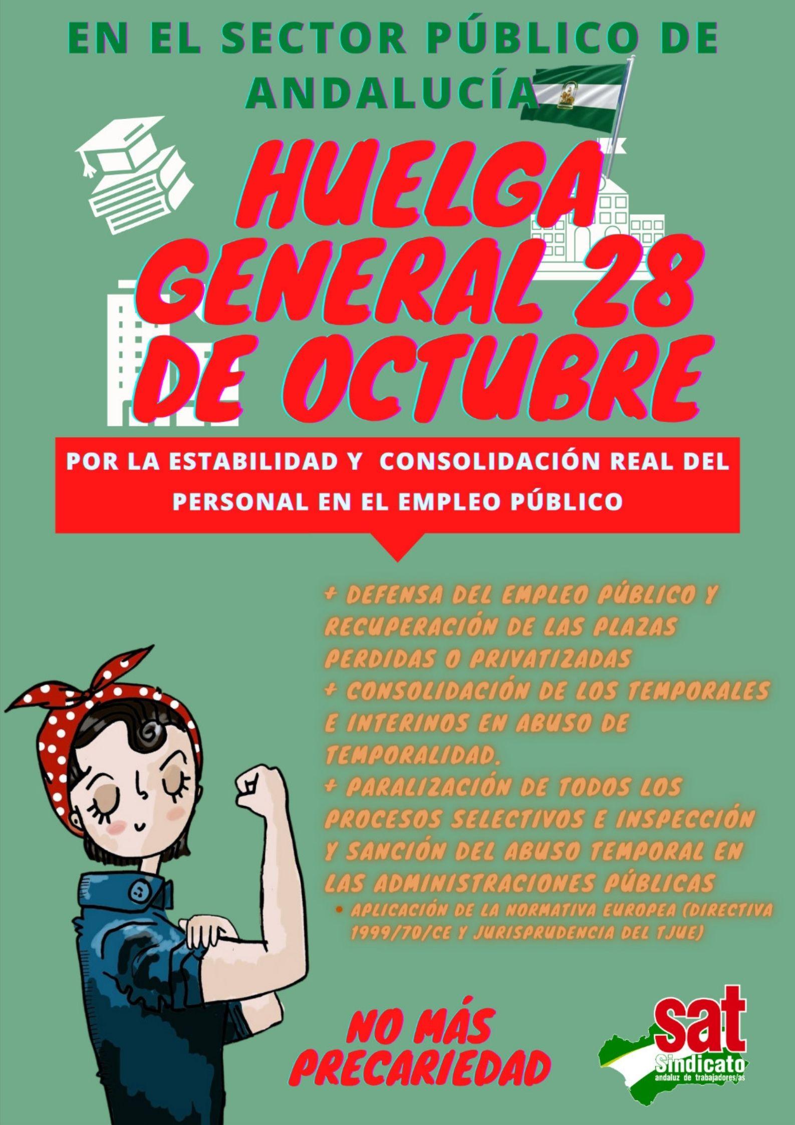 Cartel Huelga General 28 de octubre